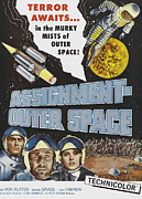 1960s Poster Art Posters - Space Men, Aka Assignment Outer Space Poster by Everett