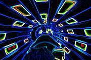 Thrill Digital Art - Space Mountain Experience by Purcell Pictures