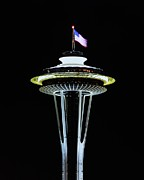 Patriotism Prints - Space Needle America Print by Benjamin Yeager