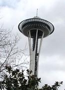 Space Needle In Seattle Print by Judyann Matthews