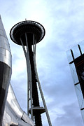 Seattle Framed Prints Framed Prints - Space Needle Framed Print by Marie Jamieson
