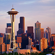 Seattle Skyline Art - Space Needle by Sbk_20d Pictures