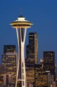Office Space Prints - Space Needle Twilight Print by Greg Vaughn - Printscapes