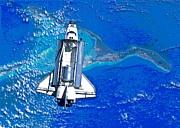 Padre Art - Space Shuttle Atlantis Docking