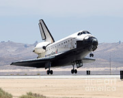 Atlantis Prints - Space Shuttle Atlantis Lands Print by Nasa