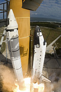 Blastoff Posters - Space Shuttle Atlantis Lifts Poster by Stocktrek Images
