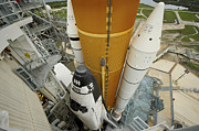 Atlantis Prints - Space Shuttle Atlantis On The Launch Print by Stocktrek Images