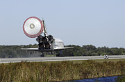 Ov-104 Prints - Space Shuttle Atlantis Unfurls Its Drag Print by Stocktrek Images