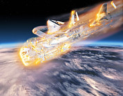 Break Up Prints - Space Shuttle Columbia Disaster Print by Chris Butler