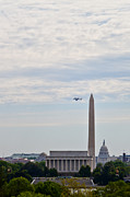 Enterprise Framed Prints - Space shuttle Discovery Flyover over the Washington D.C. area - Framed Print by Dasha Rosato