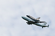 United States Government Originals - Space shuttle Discovery Flyover over the Washington D.C. area  by Dasha Rosato
