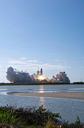 Rocket Boosters Prints - Space Shuttle Discovery Lifts Off Print by Stocktrek Images