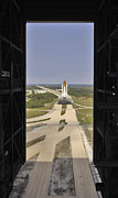 Transporter Prints - Space Shuttle Discovery Resting Print by Stocktrek Images