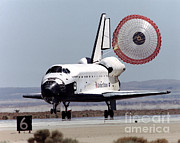Space Shuttle Endeavor Prints - Space Shuttle Endeavor Touchdown Print by NASA / Science Source