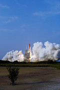 Rocket Boosters Prints - Space Shuttle Endeavour Liftoff Print by Stocktrek Images
