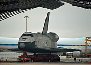 Enterprise Metal Prints - Space Shuttle Enterprise Metal Print by Jennifer LaPoint