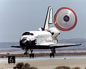 Space Shuttle Endeavour Posters - Space Shuttle Landing Poster by Nasa