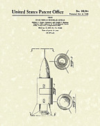 Space Drawings Framed Prints - Space Vehicle 1960 Patent Art  Framed Print by Prior Art Design