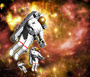 Space Art Prints - Space Walk Print by Victor Habbick Visionsscience Photo