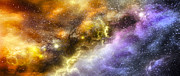 Explosion Digital Art Posters - Space005 Poster by Svetlana Sewell
