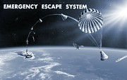 Astronautical Engineering Posters - Spacecraft Escape System, Artwork Poster by Nasavrs