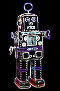 Robot Metal Prints - Spaceman Robot Metal Print by DB Artist