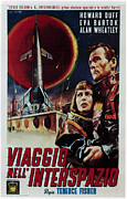 1950s Movies Framed Prints - Spaceways, Aka Viaggio Nellinterspazio Framed Print by Everett