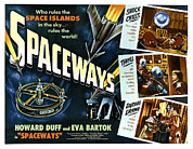 Lobbycard Framed Prints - Spaceways, Howard Duff, Eva Bartok Framed Print by Everett