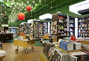 Novels Posters - Spacious Bookstore Interior Poster by Jaak Nilson