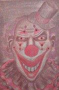 Spades Drawings Posters - Spades the Clown Poster by Terrie Bilkey