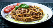 Balsamic Vinegar Photo Posters - Spaghetti Bolognese Poster by Wojciech Wisniewski