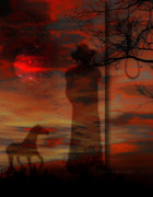 Silhouette Digital Art - Spaghetti Western - Homage To Sergio Leone by Mimulux patricia no  