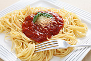 Italian Meal Posters - Spaghetti with pomodoro sauce Poster by Paul Cowan