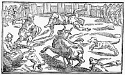 Libro Framed Prints - SPAIN: BULLFIGHT, c1582 Framed Print by Granger
