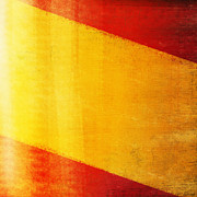 Border Photo Prints - Spain flag Print by Setsiri Silapasuwanchai