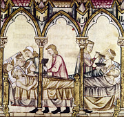 Manuscript Illumination Prints - Spain: Medieval Hospital Print by Granger