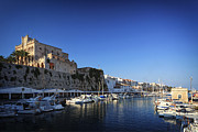 Old Objects Prints - Spain, Menorca, Ciutadella, Old Town And Harbour Print by Michele Falzone