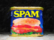 Cans Digital Art Prints - Spam Print by Wingsdomain Art and Photography