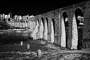 Spans Prints - Span Of The Kamares Aqueduct Larnaca Republic Of Cyprus Europe The Aqueduct Built In 1750 Print by Joe Fox
