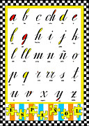 Spanish Alphabet Juvenile Licensing Art Print by Anahi DeCanio