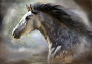 Equine Mixed Media Prints - Spanish Beauty Print by Carol Cavalaris