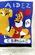 Miro Prints - Spanish Civil War, 1937 Print by Granger