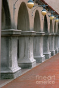 Courtyards Photos - Spanish Columns by Sandra Bronstein