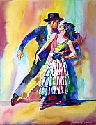 Most Viewed Painting Posters - Spanish Dance Poster by David Lloyd Glover