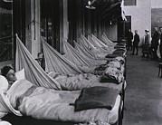 Spanish Flu Epidemic 1918-19. An Print by Everett