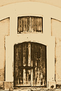 El Morro Digital Art - Spanish Fort Door Castillo San Felipe Del Morro San Juan Puerto Rico Prints Rustic by Shawn OBrien