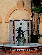 Huisken Prints - Spanish Fountain Print by Lyle  Huisken