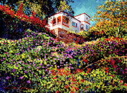 Most Metal Prints - Spanish House Metal Print by David Lloyd Glover