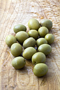 Vegetables Acrylic Prints - Spanish Manzanilla Olives Acrylic Print by Frank Tschakert