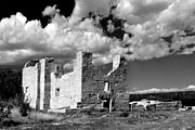 Infrared Prints - Spanish Mission ruins of Quarai NM Print by Christine Till
